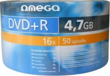 DVD+R 4.7GB 16x Omega 50 buc CD-uri si DVD-uri