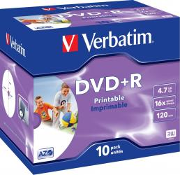 DVD+R 4.7GB 16x Verbatim 10 buc set CD-uri si DVD-uri