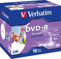 DVD+R 4.7GB 16x Verbatim 10 buc set CD-uri si DVD-uri