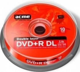DVD+R 8.5 GB 8x Acme 10 bucati CD-uri si DVD-uri