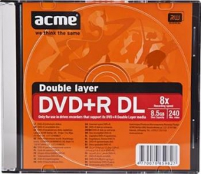 DVD+R 8.5GB 8x ACME Dual Layer 1 buc