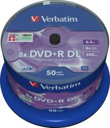 DVD+R DL 8.5GB 8X Verbatim 50 buc set CD-uri si DVD-uri