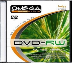 DVD+RW 4.7GB 4X Omega Slim Case