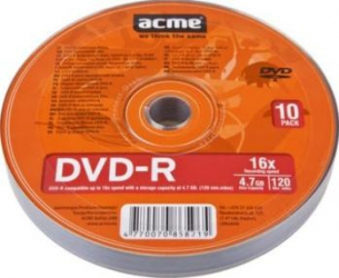 DVD-R 4.7GB 120Min 16x ACME 10 buc set CD-uri si DVD-uri