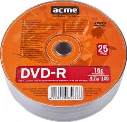 DVD-R 4.7GB 120Min 16x ACME 25 buc set CD-uri si DVD-uri