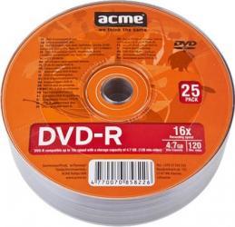 DVD-R 4.7GB 120Min 16x ACME 25 buc set CD-uri si DVD-uri