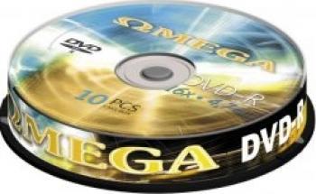 DVD-R 4.7GB 16x Omega 10 buc CD-uri si DVD-uri