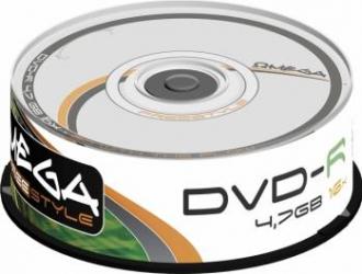 DVD-R 4.7GB 16x Omega 25 buc CD-uri si DVD-uri