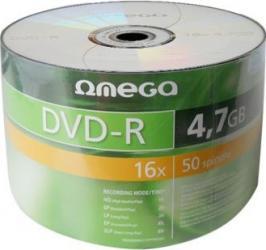 DVD-R 4.7GB 16x Omega 50 buc CD-uri si DVD-uri