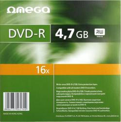 DVD-R 4.7GB 16x Omega Slim Case 10 buc CD-uri si DVD-uri