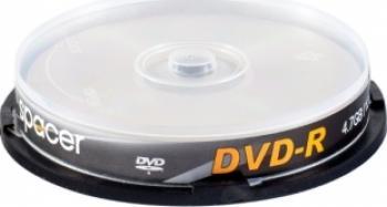 DVD-R 4.7GB 16x Spacer 10 buc CD-uri si DVD-uri