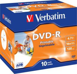 DVD-R 4.7GB 16X Verbatim 10 buc set