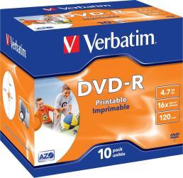 DVD-R 4.7GB 16X Verbatim 10 buc set CD-uri si DVD-uri