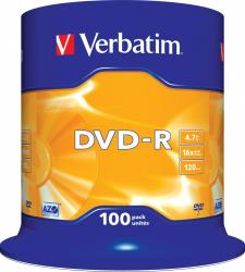 DVD-R 4.7GB 16X Verbatim 100 buc set Spindle CD-uri si DVD-uri