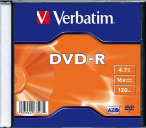 DVD-R 4.7GB 16X Verbatim 100 buc set