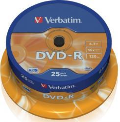 DVD-R 4.7GB 16X Verbatim 25 buc set Spindle CD-uri si DVD-uri
