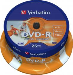 DVD-R 4.7GB 16X Verbatim 25 buc set CD-uri si DVD-uri