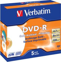 DVD-R 4.7GB 16X Verbatim 5 buc set