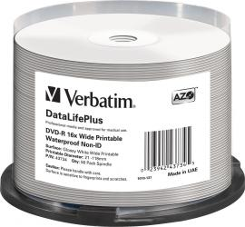DVD-R 4.7GB 16X Verbatim 50 buc set Spindle WATERPROOF CD-uri si DVD-uri