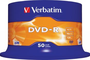 DVD-R 4.7GB 16X Verbatim 50 buc set Spindle CD-uri si DVD-uri