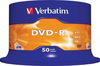 DVD-R 4.7GB 16X Verbatim 50 buc set Spindle CD-uri si DVD-uri