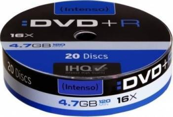 DVD+R Intenso 4.7GB 16x 20buc shrink mit Banderole CD-uri si DVD-uri