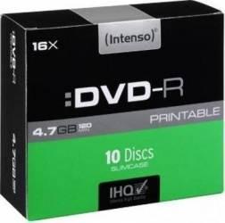 DVD-R Intenso 4.7GB Printable 10buc Cake Box CD-uri si DVD-uri
