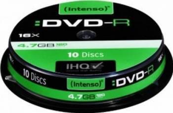 DVD-R Intenso 4.7GB 16x 10buc Cake Box CD-uri si DVD-uri