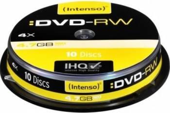 DVD-RW Intenso 4.7 GB 4x 10 buc Cake Box CD-uri si DVD-uri