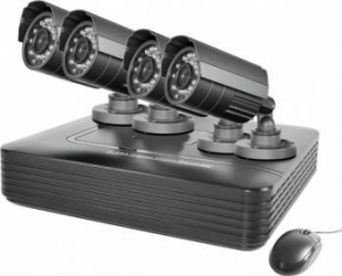 DVR kit supraveghere video PNI House PTZ1000 4 camere exterior