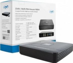 DVR-NVR PNI House H804 - 8 canale IP full HD 1080P sau 4 canale analogice Sisteme DVR & NVR