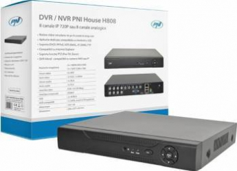 DVR-NVR PNI House H808 - 8  canale IP 720P Real Time sau 8 canale analogice Sisteme DVR & NVR