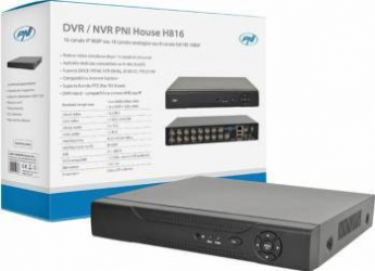 DVR-NVR PNI House H816 - 16 canale IP 960P sau 16 canale analogice