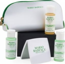 Pachet Promo Mario Badescu Enzyme Cleasing Gel + Cucumber Cleasing Lotion + Body Soa + Mirror