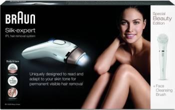 Epilator Braun IPL Silk-expert BD5008 Body Face 120.000 pulsatii + Perie curatare faciala Epilatoare