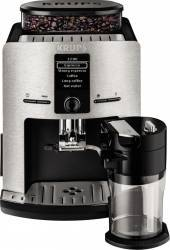 Espressor automat Krups Latt Espress metal EA829D 1450W 15 bar 1.7 l ArgintiuNegru Resigilat espressoare