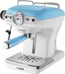 Espressor manual Ariete 1389 Vintage 900W Sistem cappuccino 15 Bar 1-2 cesti Bleu Espressoare
