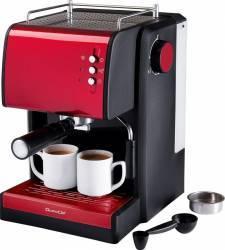 Espressor manual DomoClip 1100 W 2 cesti 15 bar 1.5 L Rosu/Negru Espressoare