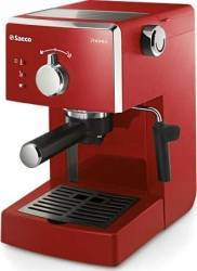 Espressor manual Saeco Poemia HD8423/29, Dispozitiv spumare, 15 Bar, 1.25 l, Rosu