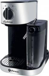 Espressor Rohnson R975 1470W 1.2l 15 Bar Sistem de spumare a laptelui Argintiu-Negru Espressoare