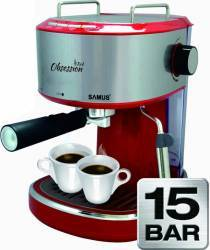 Espressor manual Samus Obsession 850W 1.2L 15 bar Rosu Espressoare