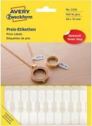 Etichete bijuterii Zweckform 49x10 mm Alb Articole and accesorii birou