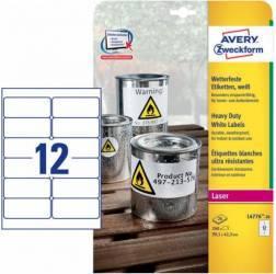 Etichete laser Zweckform 99.1x42.3 mm Articole and accesorii birou