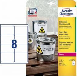 Etichete laser Avery Zweckform 99.1x67.7 mm Articole and accesorii birou