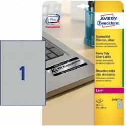 Etichete metalice Zweckform 210x297 mm Articole and accesorii birou