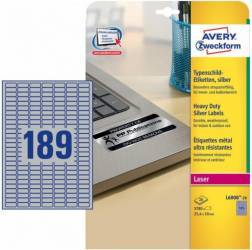 Etichete metalice Avery Zweckform 25.4x10 m Articole and accesorii birou