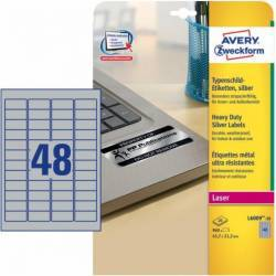 Etichete metalice Zweckform 45.7x21.2 mm Articole and accesorii birou