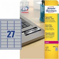 Etichete metalice Zweckform 63.5x29.6 mm Articole and accesorii birou