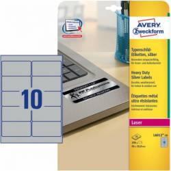 Etichete metalice Avery Zweckform 96x50.8 mm Articole and accesorii birou