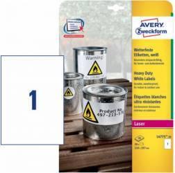 Etichete transparente Avery Zweckform 210x297 mm Ultrarezistente Articole and accesorii birou